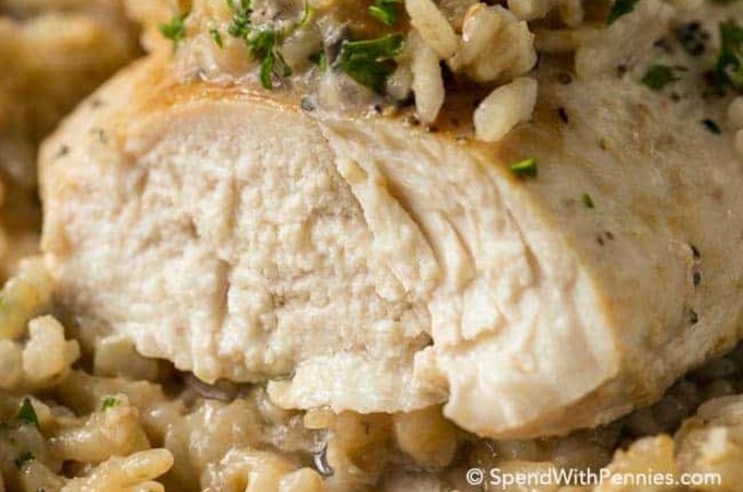 4 ingredient chicken rice casserole