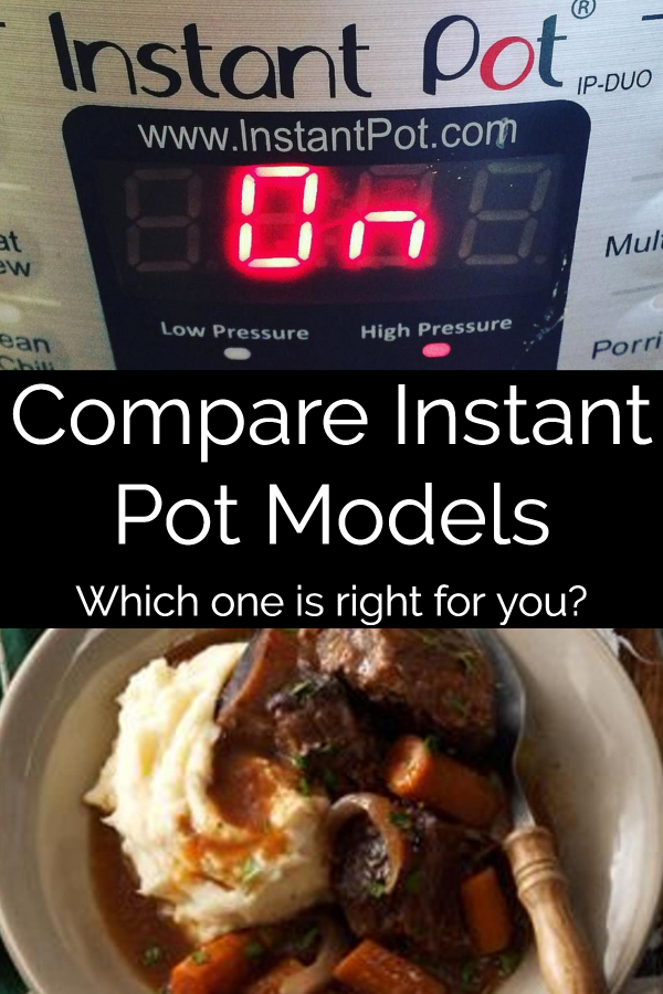compare instant pot models