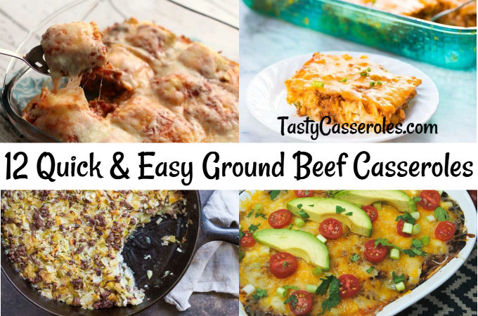 easy ground beef casserole recipes