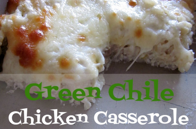 green chile chicken casserole recipe