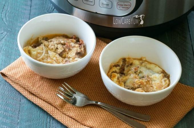 instant pot no noodle lasagna