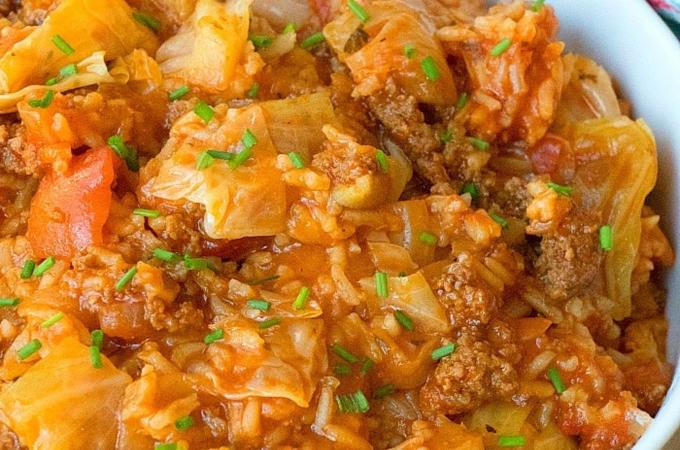 instant pot stuffed cabbage casserole