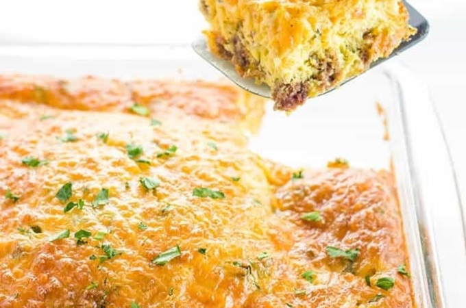 low carb breakfast casserole sausage cheese