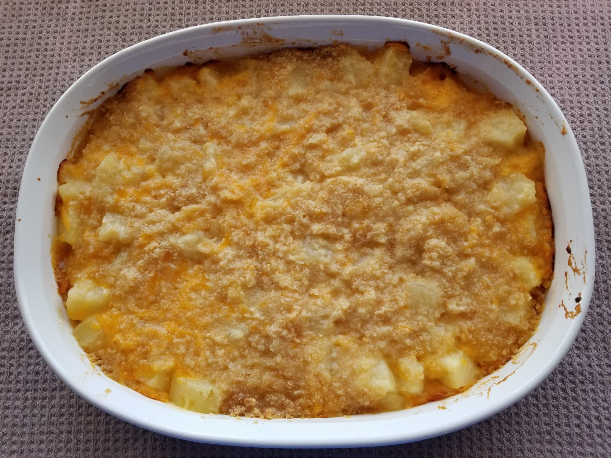 pineapple cheddar cheese casserole