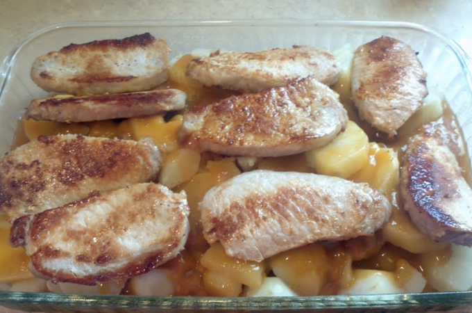 pork chop potato casserole mushroom soup