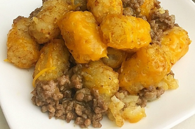 quick easy tater tot casserole