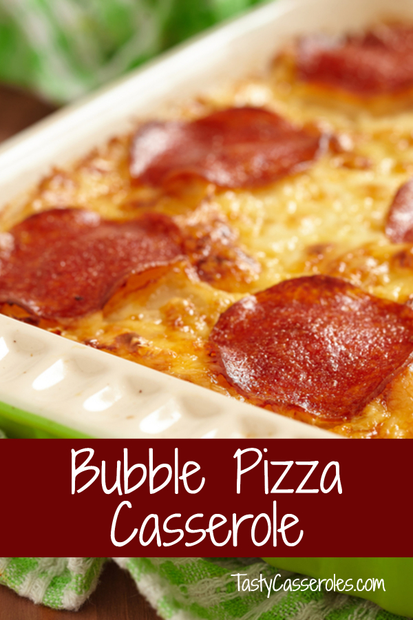 bubble pizza casserole recipe