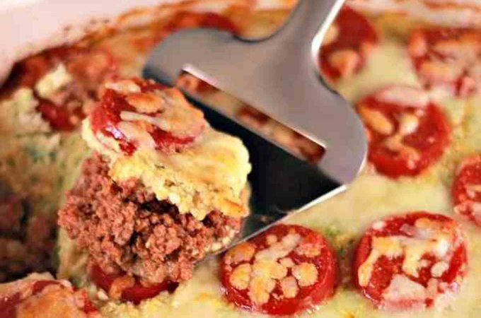 gluten free pizza casserole